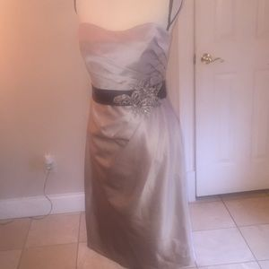 Allure Nwt bridesmaid dress cappuccino size 14